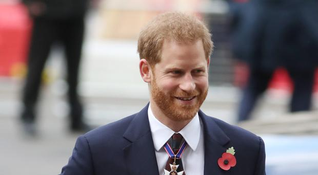 The Duke of Sussex arrives at the Anzac Day Service of Commemoration and Thanksgiving at Westminster Abbey (Andrew Matthews/PA)
