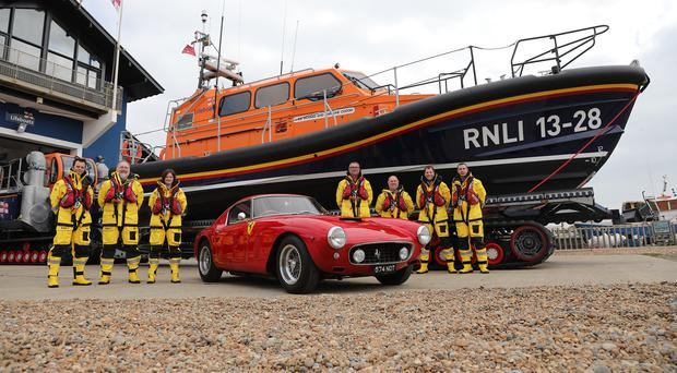 Hastings RNLI and the classic 1960 Ferrari (KT Bruce/PA)