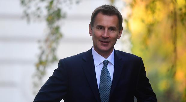 Jeremy Hunt was making his first trip to Africa as Foreign Secretary (Victora Jones/PA)
