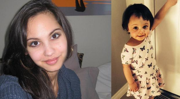 Jasmine Lovett, 25, and daughter Aliyah Sanderson, one, have not been since April 16 (Calgary Police/PA)