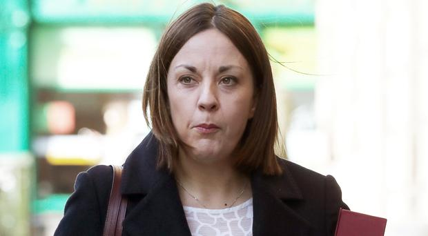 In a statement on Monday, Ms Dugdale said she would stand down in July (Andrew Milligan/PA)