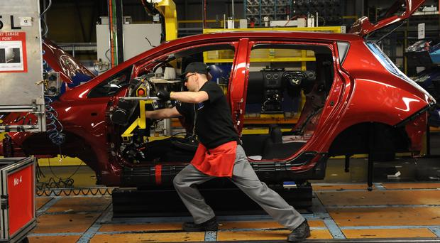 Around 126,000 cars were built in March, said the Society of Motor Manufacturers and Traders (Anna Gowthorpe/PA)