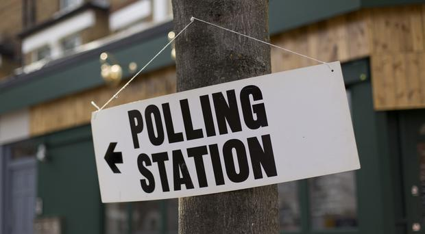 A notice outside a polling station (Image: PA)