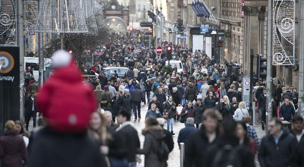 Retail figures in Scotland grew in the first quarter of 2019, statistics show (John Linton/PA)
