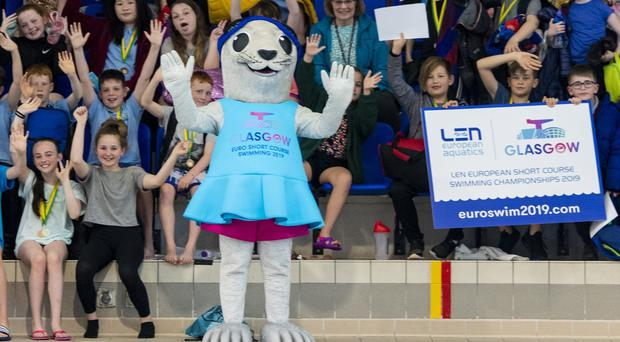Bonnie the seal at Tollcross International Swimming Centre (SNS/PA)