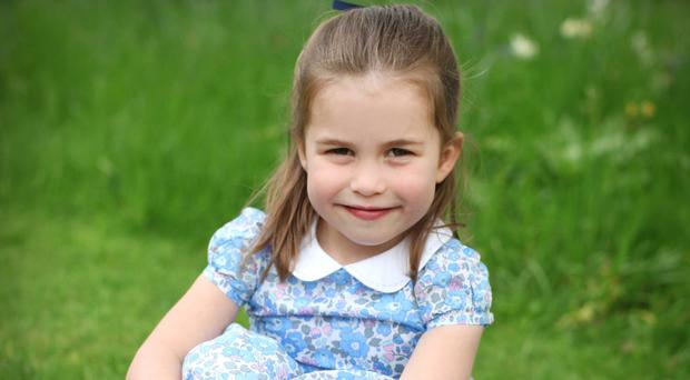 A picture of Princess Charlotte was taken by the Duchess of Cambridge and released to make her daughter's fourth birthday (Duke and Duchess of Cambridge/PA)