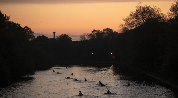 Soldiers on the River Ouse in York as they compete in Race the Sun (Danny Lawson/PA)