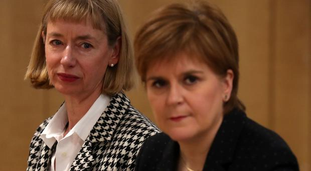 Leslie Evans, left, said it was not possible to tell what items had already been deleted from from the Scottish Government's computer system (Andrew Milligan/PA)