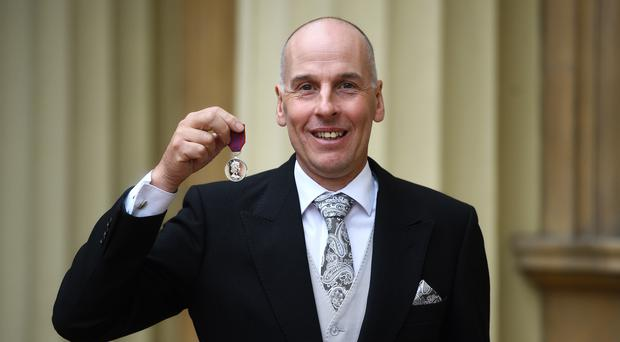 Richard Stanton with the George Medal (Kirsty O'Connor/PA)