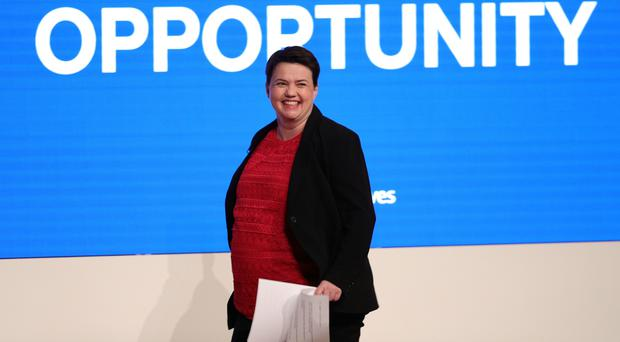Scottish Conservative leader Ruth Davidson will return from maternity leave at the party's conference (Aaron Chown/PA)