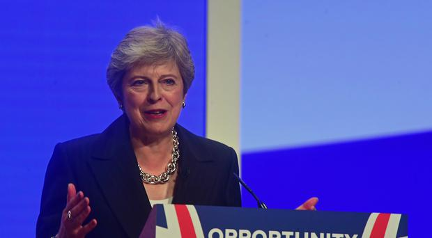 Prime Minister Theresa May is expected to announce her support for an underwater engineering hub at the Scottish Conservative conference in Aberdeen (Victoria Jones/PA)