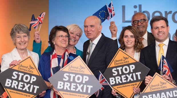 It was a 'jolly good night' for Sir Vince Cable's party (Stefan Rousseau/PA)