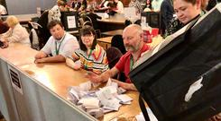 The counting of ballots gets underway at Hull City Council election count at the Guildhall, Hull, after voters headed to the polls for council and mayoral elections across England and Northern Ireland (Chris Attridge/PA)