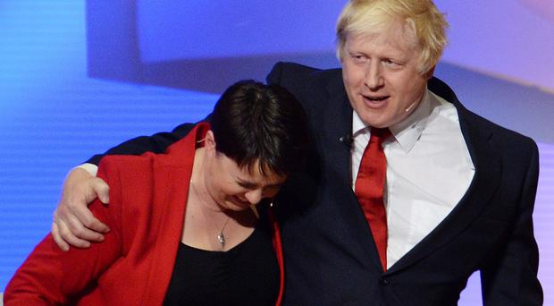 Ruth Davidson and Boris Johnson have clashed in the past (Stefan Rousseau/PA)
