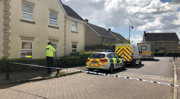 The scene on Springfield Drive in Calne (Claire Hayhurst/PA)