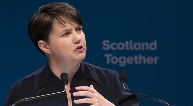 Ruth Davidson fired the starting gun on her bid to become Scotland's next first minister. (Jane Barlow/PA)