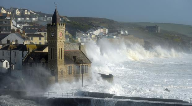 The incident happened in Porthleven, Cornwall (Ben Birchall/PA)