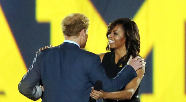 PFormer US first lady Michelle Obama sent a message of congratulations to Harry and Meghan (Chris Radburn/PA)