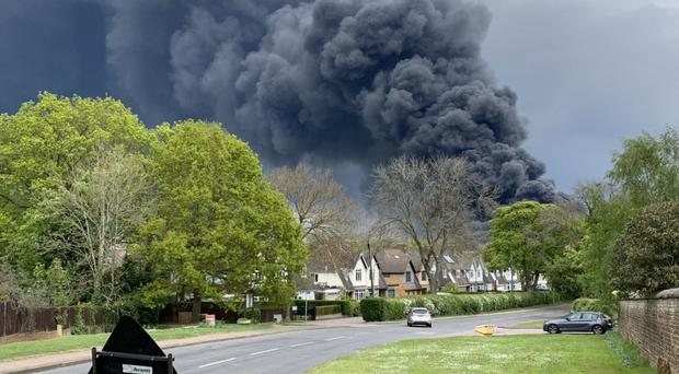 A fire broke out at Sywell Aerodrome Business Park (Rob Doyle/PA)