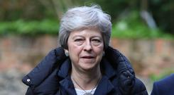 Prime Minister Theresa May (Andrew Matthews/PA)