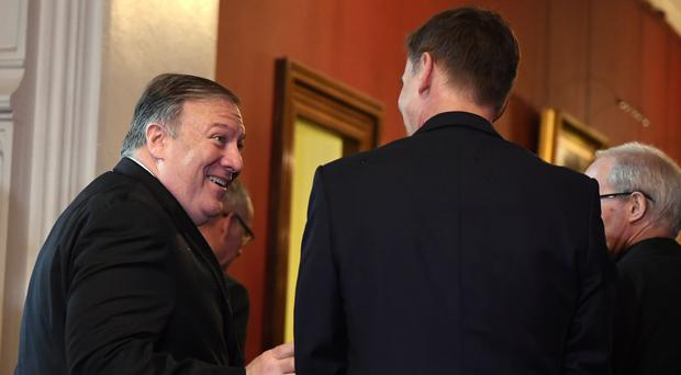 US Secretary of State Mike Pompeo arrives for a meeting with the Archbishop of Canterbury Justin Welby and Foreign Secretary Jeremy Hunt, at Lambeth Palace (Chris J Ratcliffe/PA)