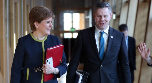 First Minister Nicola Sturgeon and Finance Secretary Derek Mackay have said the assignation of VAT revenues to Scotland will be delayed (Jane Barlow/PA)