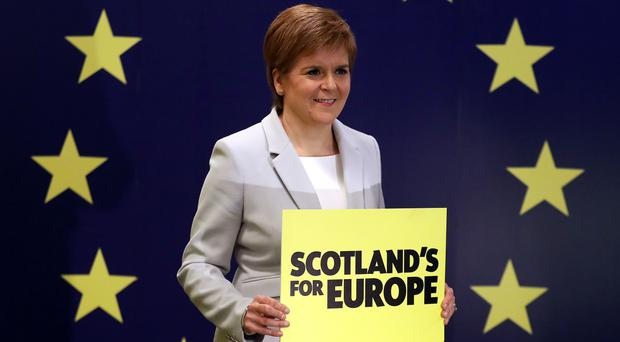 First Minister Nicola Sturgeon will launch the SNP's campaign for the European elections (Andrew Milligan/PA)