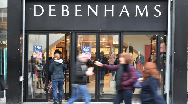 Beleaguered department store chain Debenhams will remain in the hands of its lenders after a sale process ended with no acceptable bids (PA)