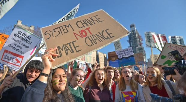 School walkouts over climate change have helped drive the issue up the agenda (Nick Ansell/PA)