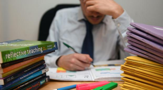 More than two-fifths of teachers have sought medical help as a result of the strain of their job, a survey has found (PA)