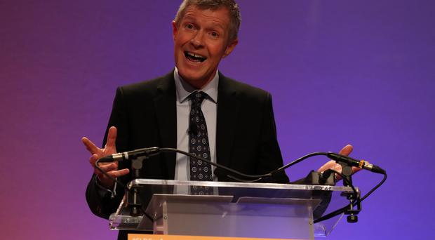 Scottish Liberal Democrat leader Willie Rennie posted a picture of a letter incorrectly addressed to Edna Rennie (Andrew Milligan/PA)