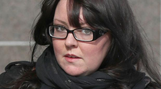 Former SNP MP Natalie McGarry arrives at Glasgow Sheriff Court (Andrew Milligan/PA)