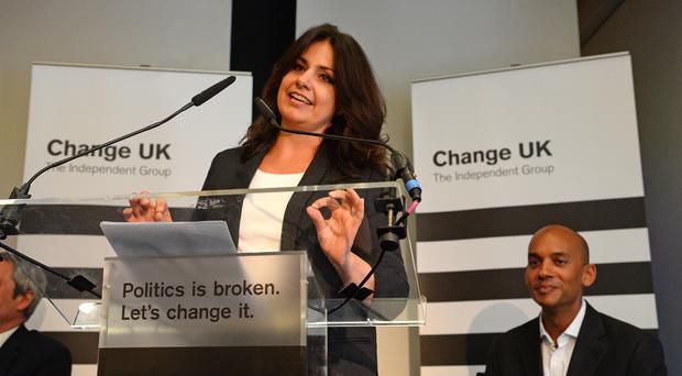 Heidi Allen speaks at a Change UK rally (Kirsty O'Connor/PA)