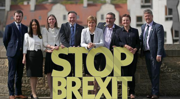 Christian Allard, third right, is one of six SNP candidates (PA)