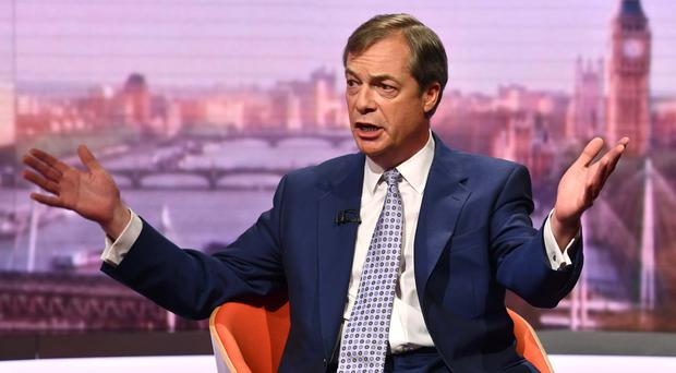 Brexit Party leader Nigel Farage predicted success for his party (Jeff Overs/BBC/PA)