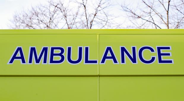 The man was taken by ambulance to Hairmyres Hospital in East Kilbride (Niall Carson/PA)