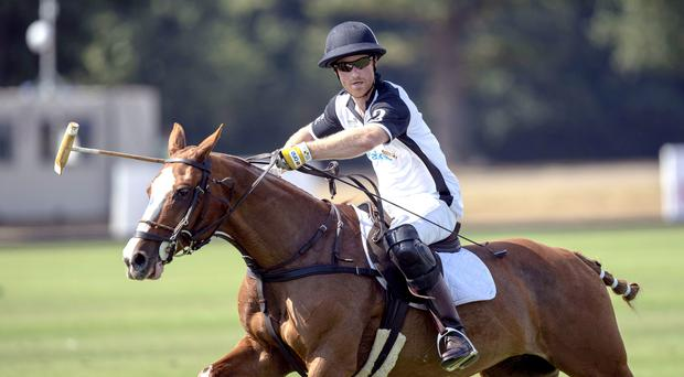 The Duke of Sussex takes part in the Sentebale ISPS Handa Polo Cup at Windsor (Steve Parsons/PA)