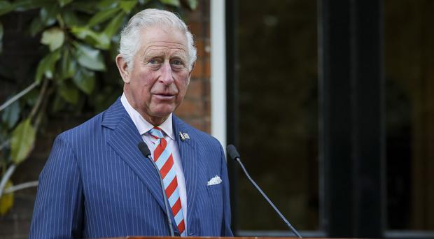 The Prince of Wales gives a speech during a reception to launch the At Ease Appeal at St James's Palace (Tristan Fewings/PA)