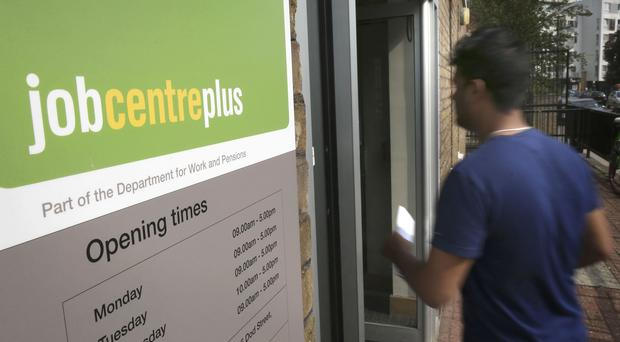 The entrance to a Jobcentre Plus near Westferry in East London (PA)