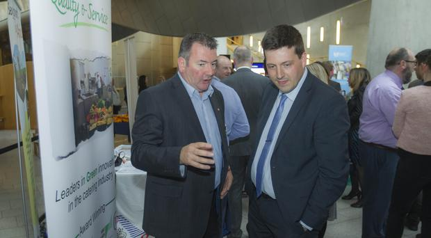 Business Minister Jamie Hepburn (right) has welcomed the ONS statistics showing record-low levels of unemployment
