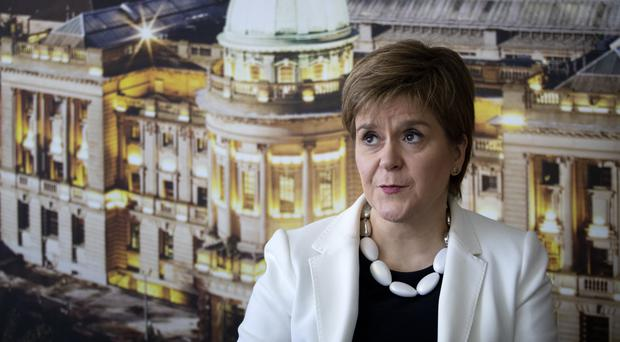 First Minister Nicola Sturgeon during a visit to Tay House, Glasgow, where she met EU nationals working at the University of Glasgow ahead of next week's European election (Jane Barlow/PA)