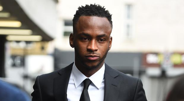 Stoke City forward Saido Berahino arrives at Highbury Corner Magistrates' Court (Kirsty O'Connor/PA)