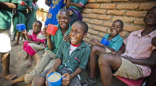 Mary's Meals feeds children in schools around the world (Chris Watt/Mary's Meals/PA)