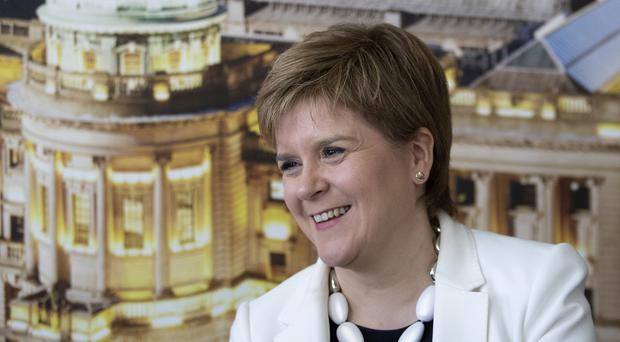 First Minister Nicola Sturgeon at the launch of the SNP's European manifesto in Glasgow (Jane Barlow/PA)