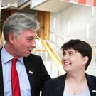 Scottish Labour leader Richard Leonard and Scottish Conservative leader Ruth Davidson, whose parties are in joint-fourth in a European election poll (Jane Barlow/PA)