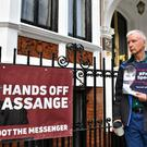 Julian Assange spent nearly seven years in the Ecuadorian embassy in London (Victoria Jones/PA)