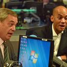 Nigel Farage's Brexit Party and Chuka Umunna's Change UK were the two biggest spenders over the period (Jeff Overs/BBC/PA)