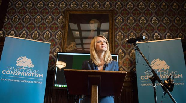 Former Cabinet minister Esther McVey launches Blue Collar Conservatism at the Houses of Parliament (Stefan Rousseau/PA)