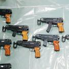 Skorpion machine pistols seized during a raid in Kent (NCA/PA)
