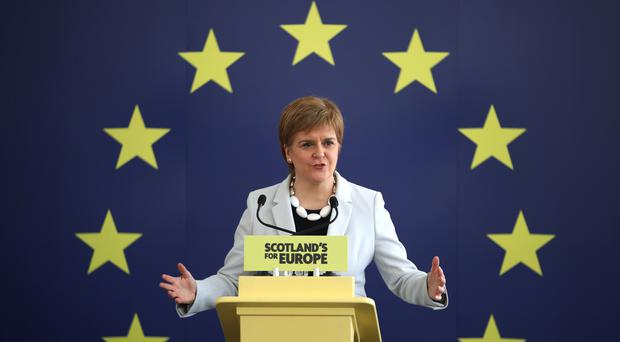 First Minister Nicola Sturgeon said the EU would welcome Scotland with open arms (Jane Barlow/PA)